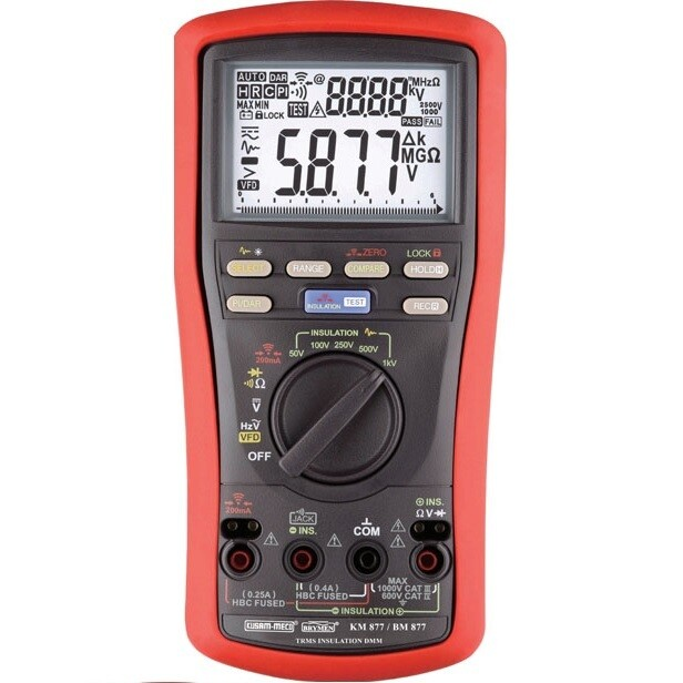 Kusam Meco KM877 Digital Insulation Multimeter with PI and DAR