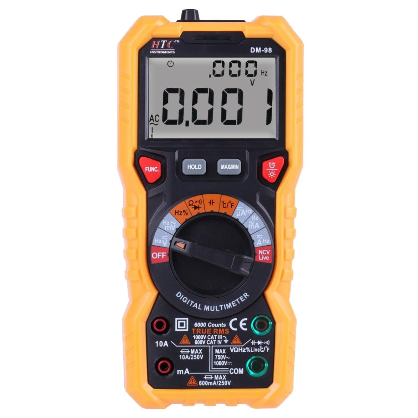 HTC DM98 TRMS Multimeter with Bargraph