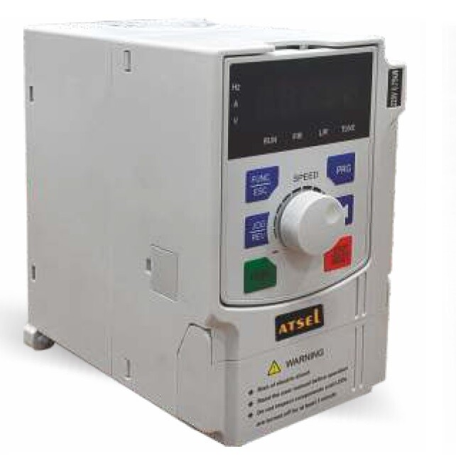 Atsel VFD 3 phase input - 3 phase output 1HP / 0.75 KW - Variable Frequency Drive