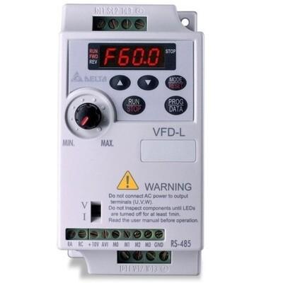Delta VFD004L21A | Delta VFD - Delta AC Drive 0.50 HP, Input 1ph