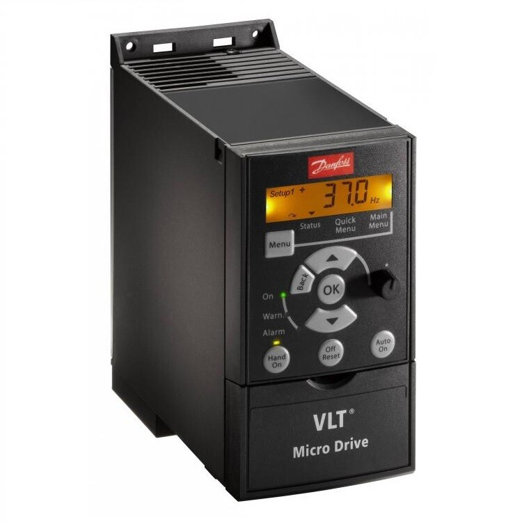 Danfoss 132F0017  - Danfoss VFD   Danfoss AC Drive 0.75 HP 3 phase