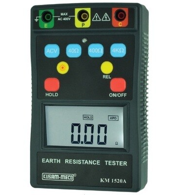 Kusam Meco KM 1520A Digital Earth Tester 3 Terminal