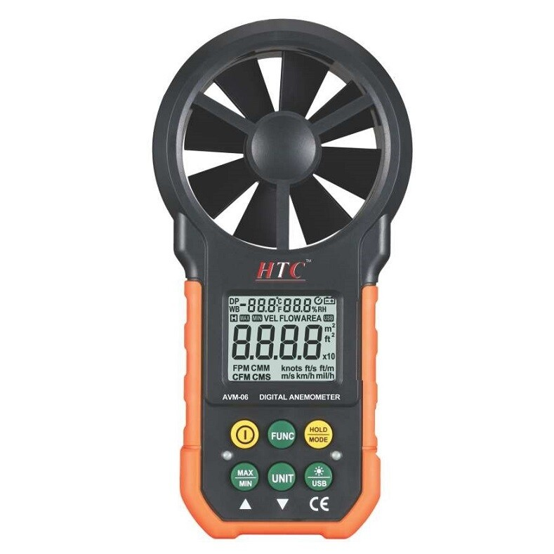 HTC AVM-06 Digital Thermo Anemometer with CFM
