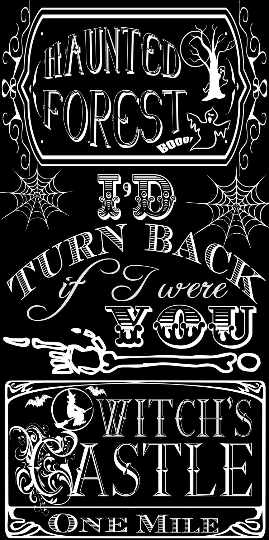 Halloween Chalkboard Art- Wizard of Oz themed  {Free Printable}