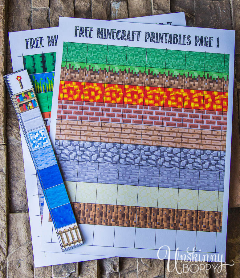 Make Your Own Minecraft Magnets
