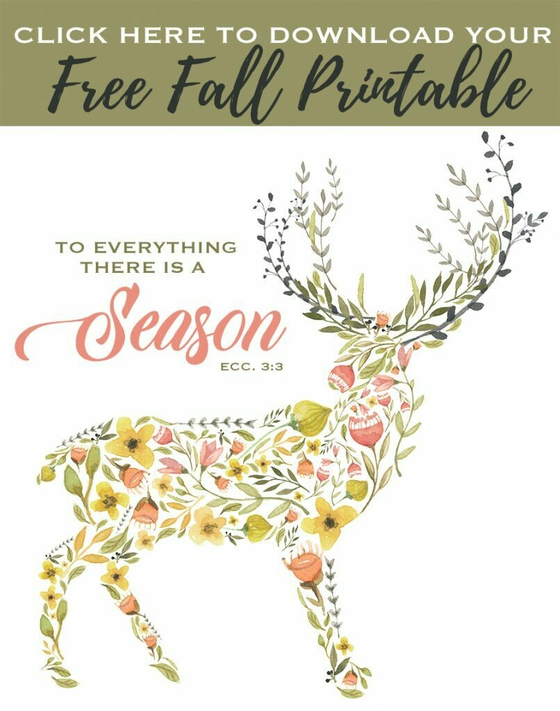To Everything there is a Season {Fall Printable}