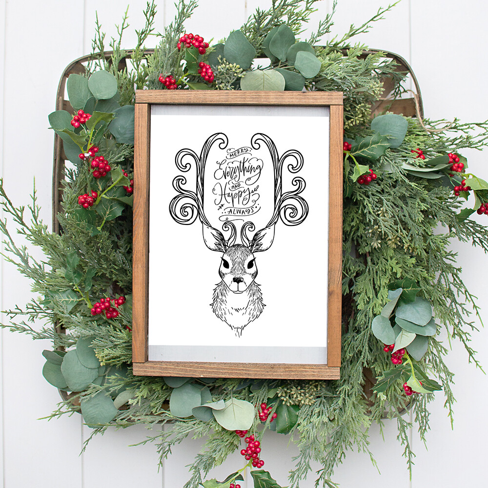 Merry Everything & Happy Always Christmas Printable Quote