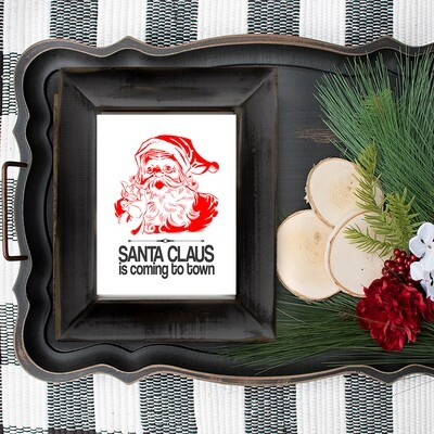 Santa Claus is Coming to Town Free Christmas Printable