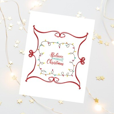 Believe in the Magic of Christmas Free Printable