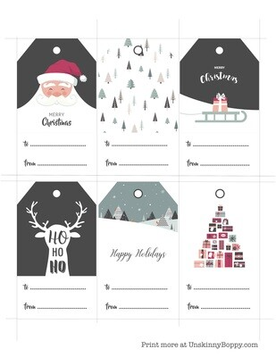 Christmas Gift Tags Free Printable