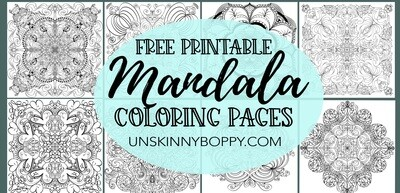 Mandala Adult Coloring Books- Free Printable Pages