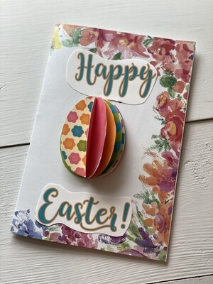 DIY Easter Card with 3D Popup Egg
