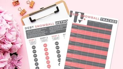 Free printable Debt Snowball Tracker (based on Dave Ramsey method)