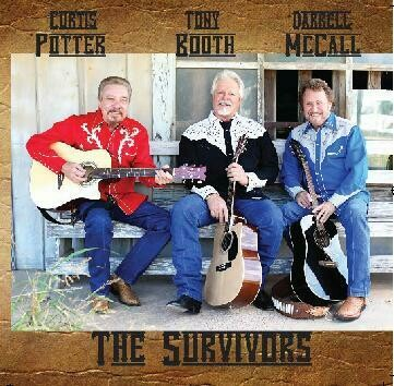 """Curtis Potter, Tony Booth & Darrell McCall """"The Survivors"""" CD 00008"""