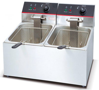 Premium 6 Ltr Counter Top Deep Fat Fryer Double Tank & Basket