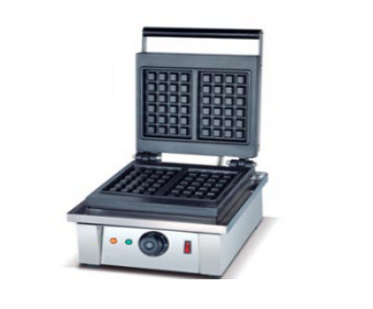 Two Square Non-stick Belgian Waffle Maker