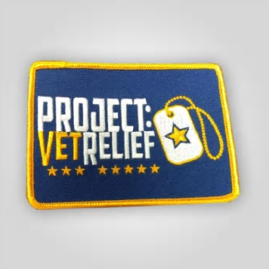 "PROJECT:VetRelief Patch 4""x3"""