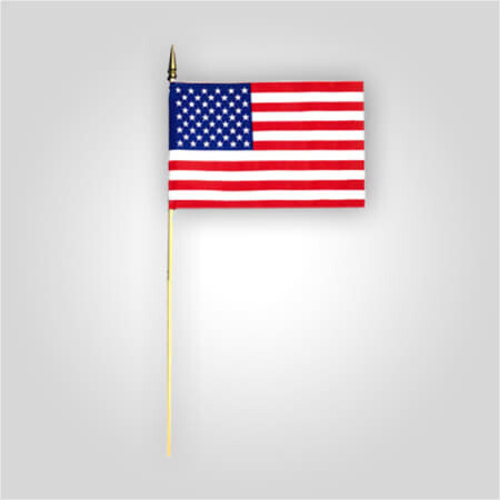 """8""""X12"""" Poly-Cotton American Stick Flags"""