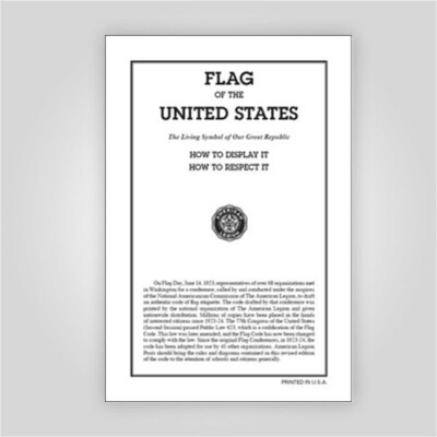 Flag Code Booklet