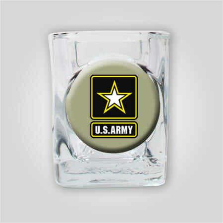 Army 2oz Emblem Shot Glass