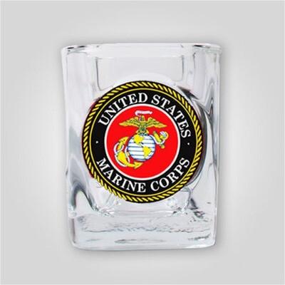 Marines 2oz Emblem Shot Glass