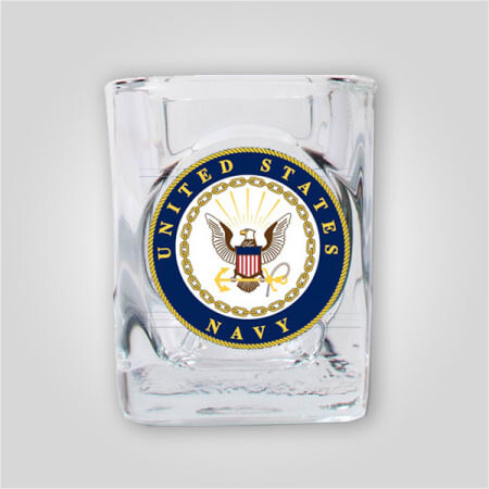 Navy 2oz Emblem Shot Glass