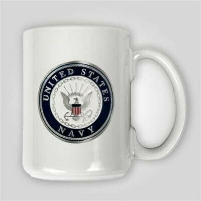 Navy Emblem 15 oz Ceramic Mug