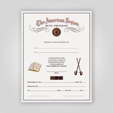 Legion ROTC Certificate