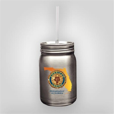 Dept of Florida Steel Mason Jar