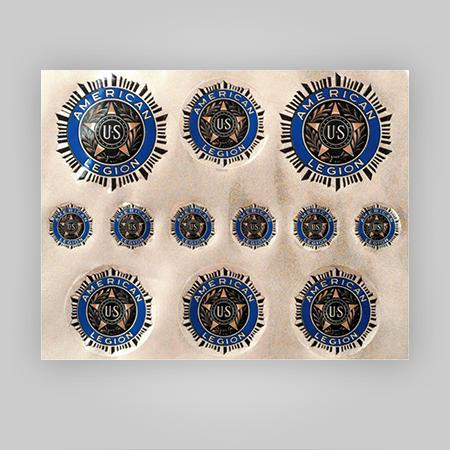 "American Legion Emblem Decals 8"" x 10"" Sheet"