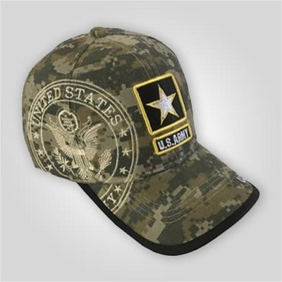 Camouflage US Army Patch Cap