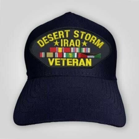 Desert Storm Iraq Veteran Emblem  Cap