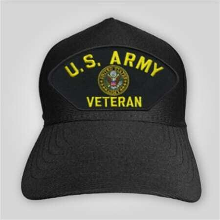 US Army Veteran Emblem Cap