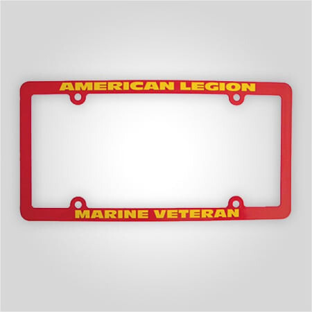 American Legion - Marines Veteran License Plate Frame