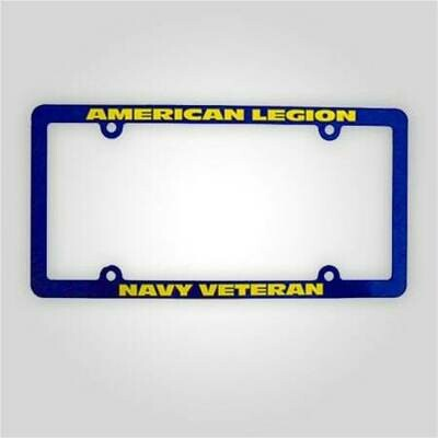 American Legion Navy Veteran License Plate Frame