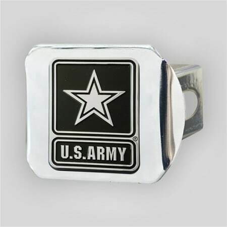 US Army 3D Chrome Hitch Cover