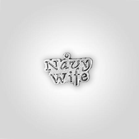 Navy Wife Charm