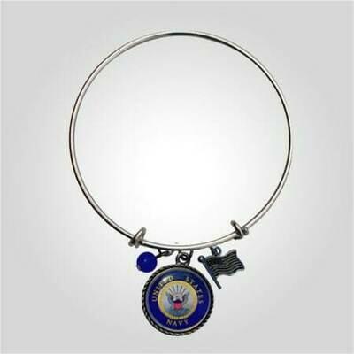 Navy Bangle Bracelet
