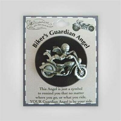 Biker's Guardian Angel Pin