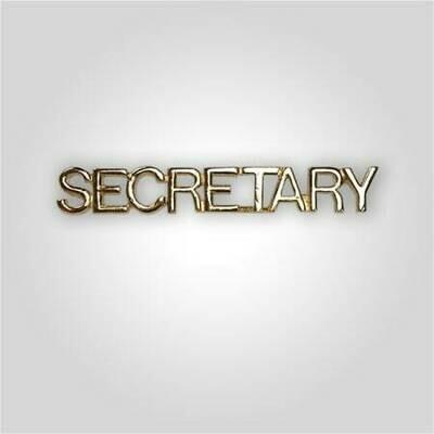 Cap Bar Pin - Secretary