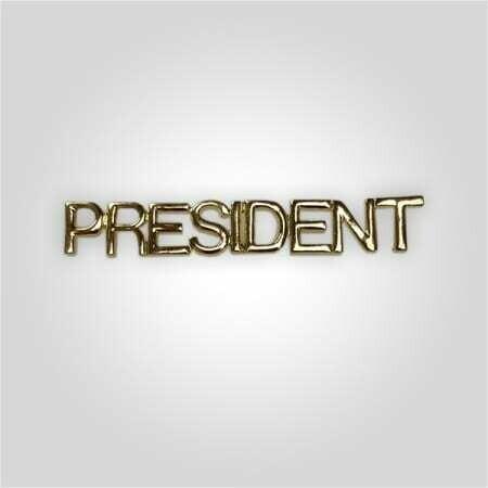 Cap Bar Pin - President