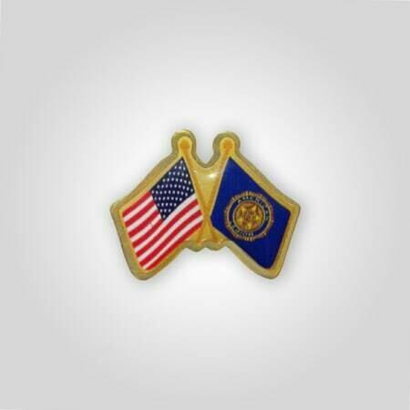 US/Legion Crossed Flags Tack