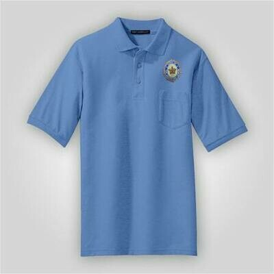 SAL Blue Pocket Polo