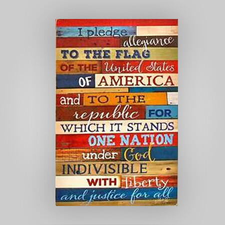 Pledge of Allegiance Wall Hanging