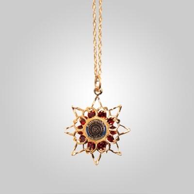Ruby Star Necklace with Legion Emblem