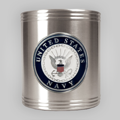 Navy Emblem Steel Can Holder