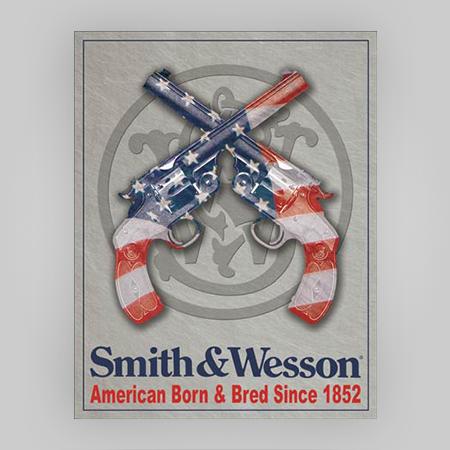 """""""American Born"""" Tin Sign"""