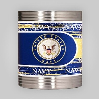 Navy Steel Can Holder