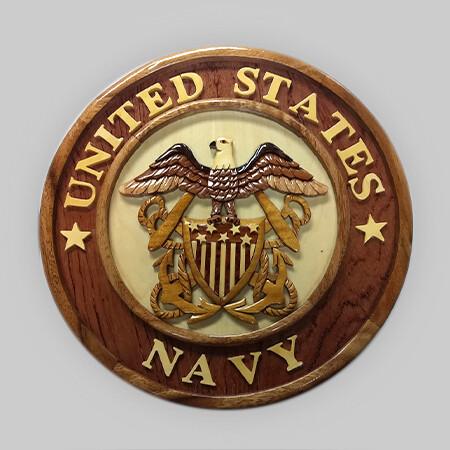 US Navy Wood Plaque