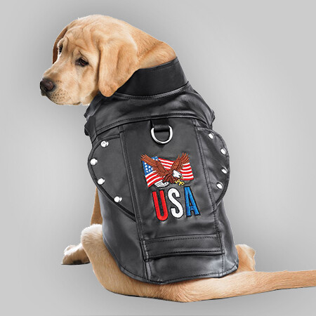 USA Biker Dog Jacket